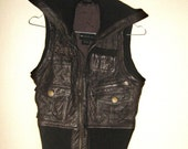 Cool brown leather vest