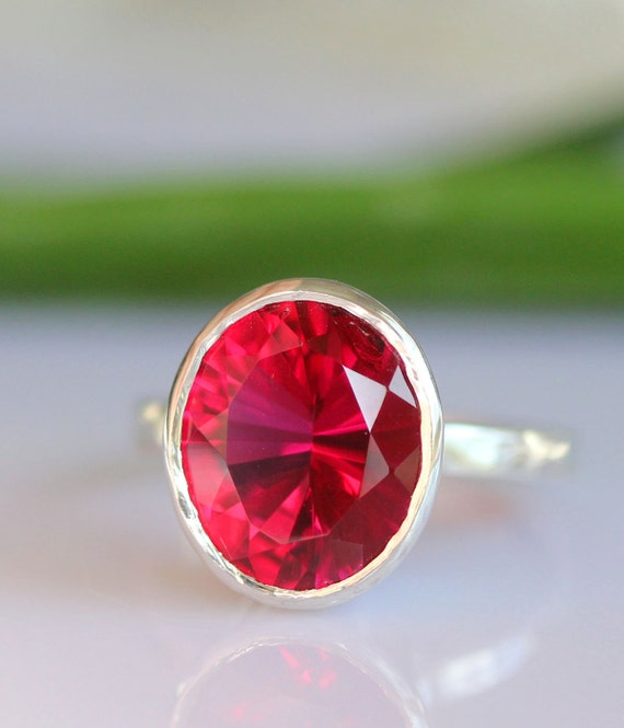 Raspberry Quartz In Sterling Silver Ring - Made To Order (Last One)