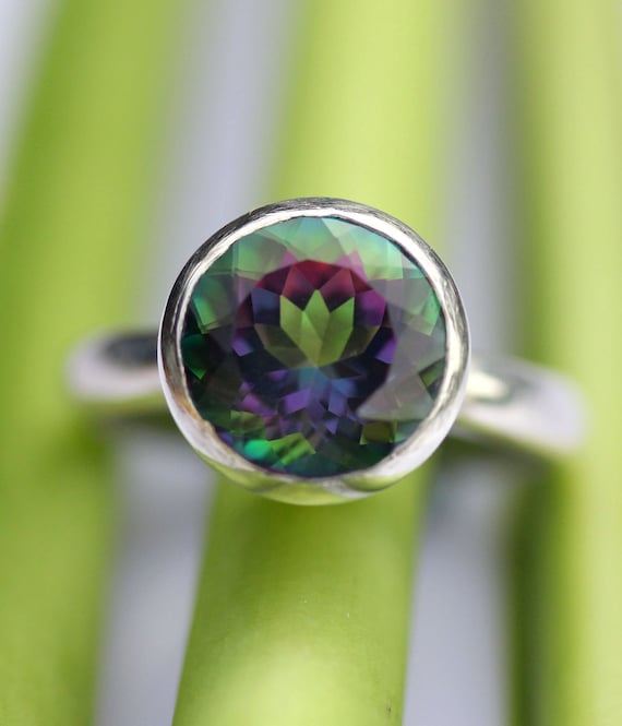 Mystic Topaz Sterling Silver Ring, Gemstone Ring, In No Nickel / Nickel Free - Made To Order
