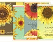SUNFLOWER CARDS  Set of 4 SPECIAL
