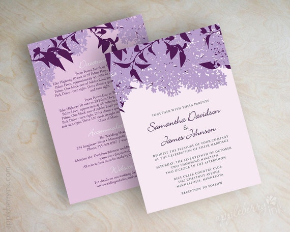 Eggplant and lilac wedding