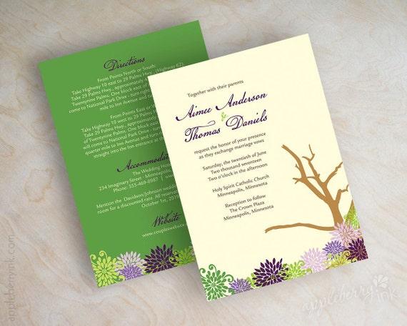 Items similar to desert wedding invitation desert for Joshua tree wedding invitations