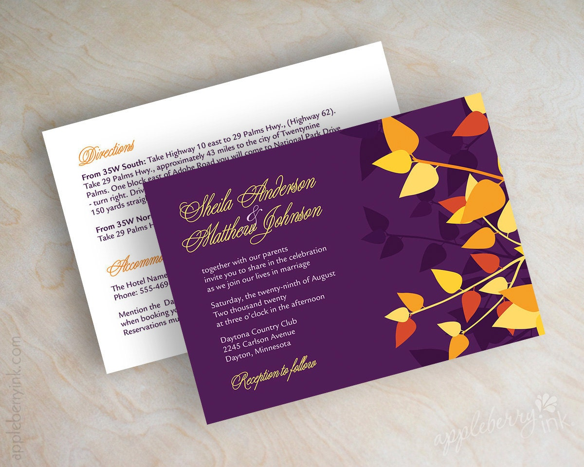 Purple And Orange Wedding Invitations for your inspiration to make invitation template look beautiful