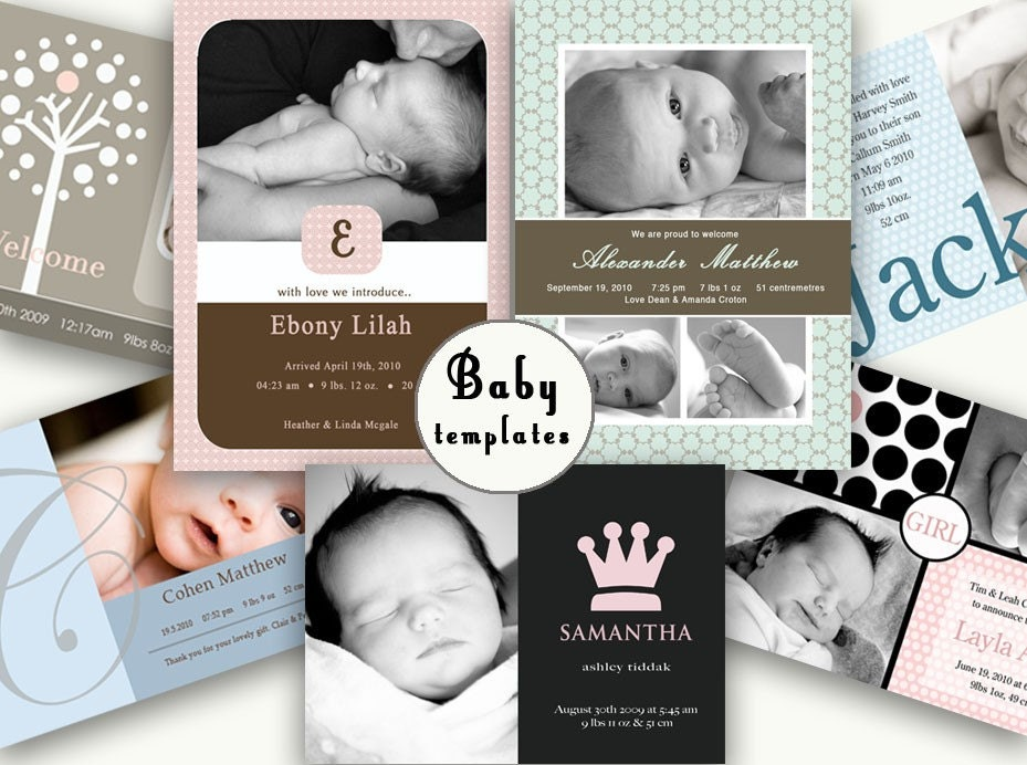 free online birth announcements templates - 100 photo card birth announcement templates new designs