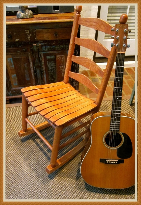 Armless Rocking Chair By Cypressmoonfurniture On Etsy