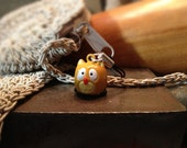 Cute Owl Bell Charm for Cell Phone, Zipper or Keychain