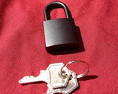 Black  Working Padlock