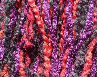 Purple, Red and Black Hair Falls