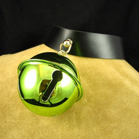 Giant Lime Green Bell Collar