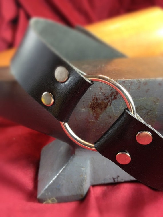 Large O-Ring Bondage Collar