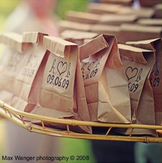 Items similar to 100 Standup Wedding Program Bags or Favors and Exit ...
