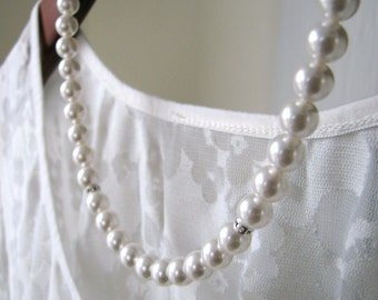 Bridesmaid Necklace - Pearl and Rhinestone