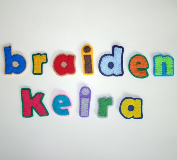 Customize Your Own Felt Letter Magnets - Lowercase