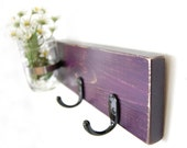 Key hooks - keys - jewelry organizer - vase - DEEP purple