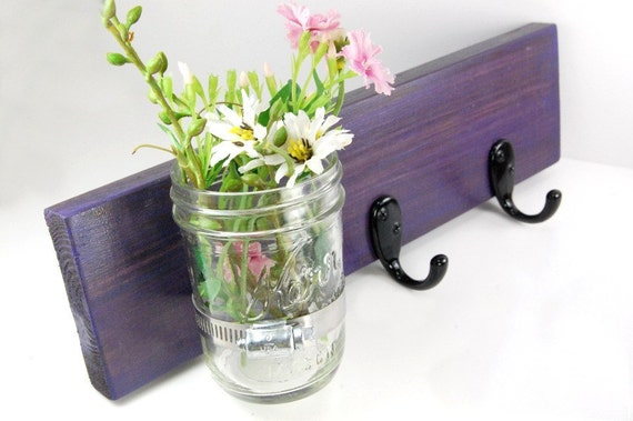 key hooks vase wooden DEEP PURPLE