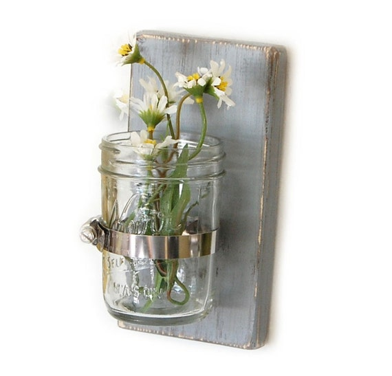 Home Decorating Ideas Glass Vases: Items Similar To Rustic Decor Floral Vase Glass Vase