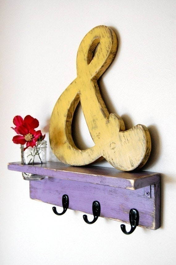 photo prop wedding sign ampersand sign wall art by oldnewagain