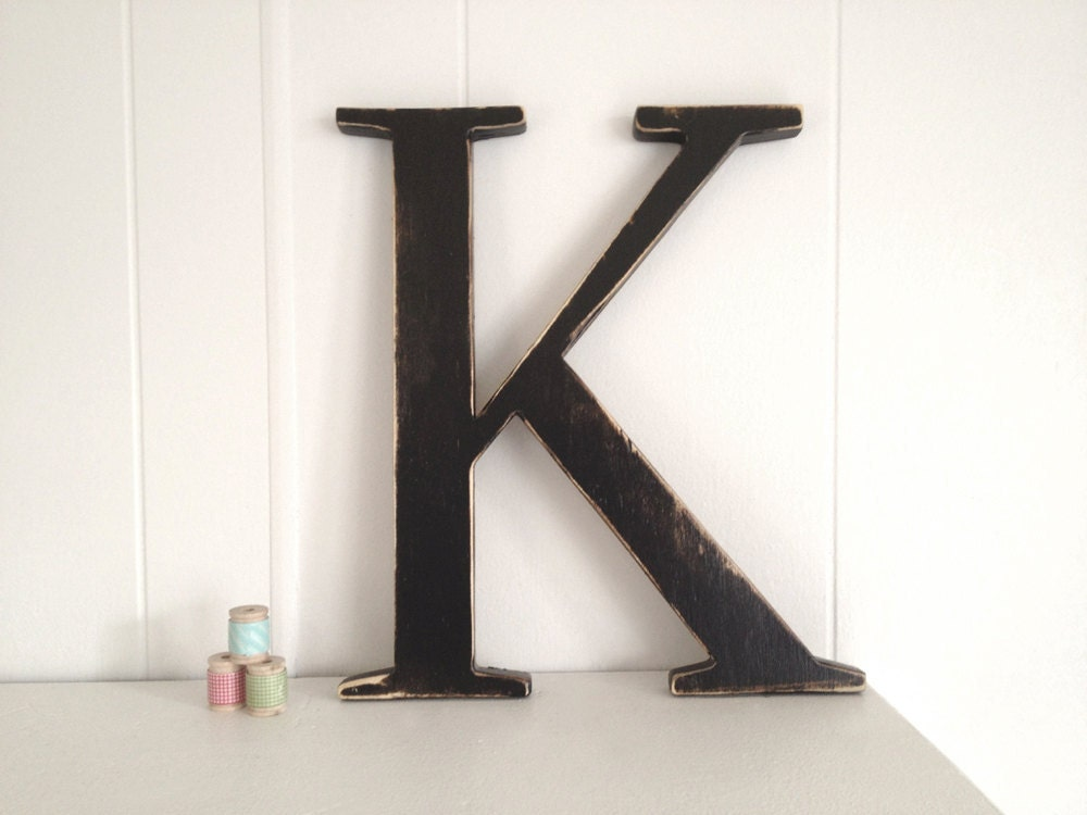 wooden wall letters alphabet wall letters wooden k wedding decor by oldnewagain 25680 | il fullxfull.302222362
