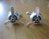 Airplane Propeller Cufflinks