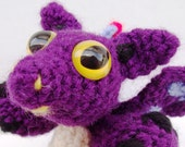 RESERVED LISTING FOR CATHYRNSCOTTAGE - Mini Purple Dragon