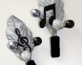 Music Note Boutonniere Corsage, Perfect for Musicians and Music Lovers