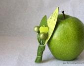 Apple of My Eye - Apple Green Boutonniere