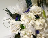 Mustache and Panache Bouquet - Mustache and Peacock Hipster Bouquet