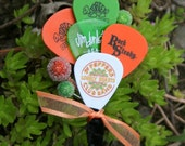 Guitar Pick Collage Boutonniere, CHOOSE COLOR