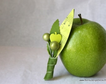 Apple of My Eye - Apple Green Boutonniere