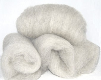 Fawn Shetland and White Alpaca Spinning Batts - 4 ounces