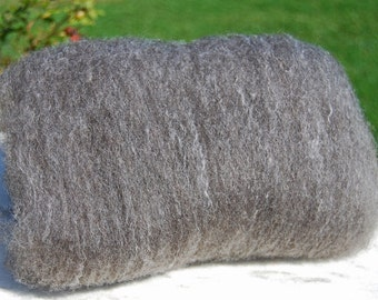 Shetland Grey Black and Mulberry Silk Spinning Batt - 4 ounces