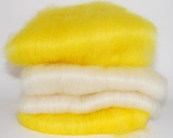 Masham Lemon Meringue Spinning Batts - 4 ounces