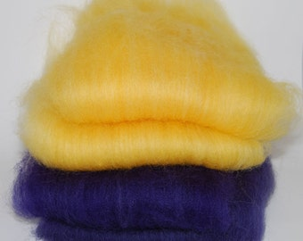 Romney Golden Days Purple Nights Batts- 4 ounces