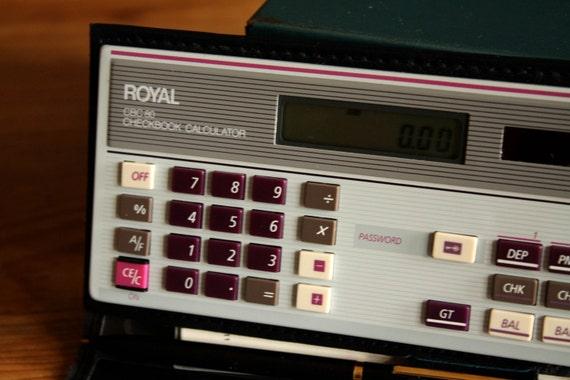 Royal CBC 80 Checkbook Calculator