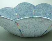 Upcycled Denim Reversible Quilted Bowl