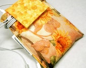 qPouch - Quilted iPod Touch/iPhone Pouch - Sunflowers and Sunshine