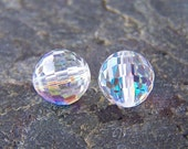 2 - Crystal AB 8mm Disco Ball Swarovski Crystals