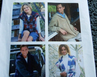 Simplicity 9066 Misses, Mens and Teen-boy's Unlined Jacket in sizes L,XL