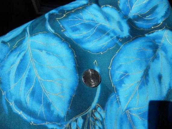 1 Yard of Beautiful Blue Fabric by Seattle Fabrics