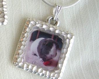 Photo Frame Pendant Necklace - Guinea Pig or Custom