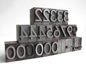 1-Inch Letterpress Numbers
