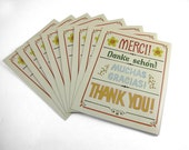 Vintage Thank You Cards - Set of 8