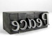 PEACE - 48pt Vintage Metal Letterpress