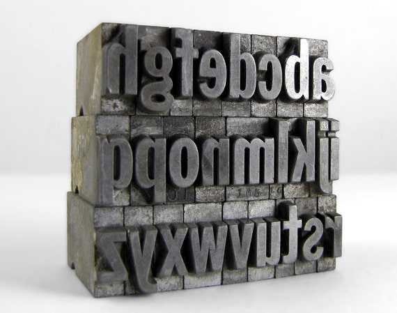 THE ALPHABET 36pt Metal Letterpress