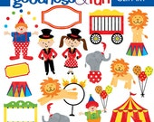 Buy 2, Get 1 FREE - Circus Fun Clipart - Digital Circus Clipart - Instant Download