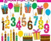 Buy 2, Get 1 FREE - Birthday Extravaganza Clipart - Digital Birthday Clipart - Instant Download