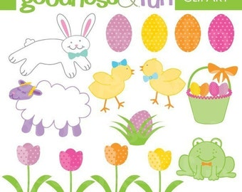 Buy 2, Get 1 FREE - Easter Fun Digital Clipart - Digital Easter Clipart - Instant Download