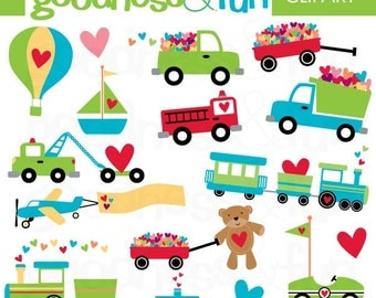 Buy 2, Get 1 FREE - Sweet Transportation Clipart - Digital Transportation Clipart - Instant Download