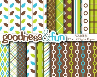 Buy 2, Get 1 FREE - Retro Day Digital Papers - Digital Retro Paper Pack - Instant Download