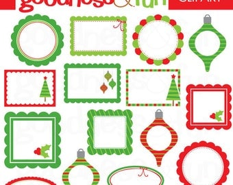 Buy 2, Get 1 FREE - Happy Holidays Frames Christmas Clipart -  Digital Christmas Frames Christmas Clipart - Instant Download